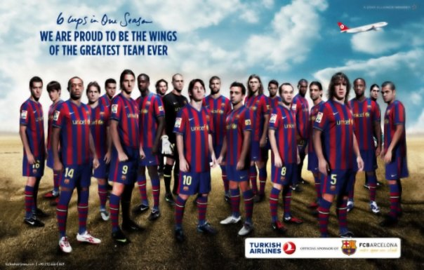 Barcelona ve THY Reklamı