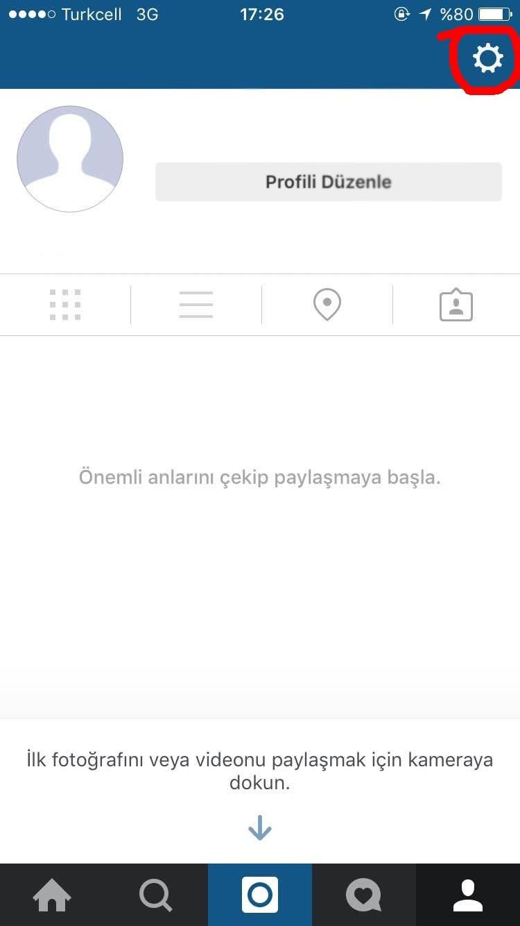 instagram geçmişini silmek 2