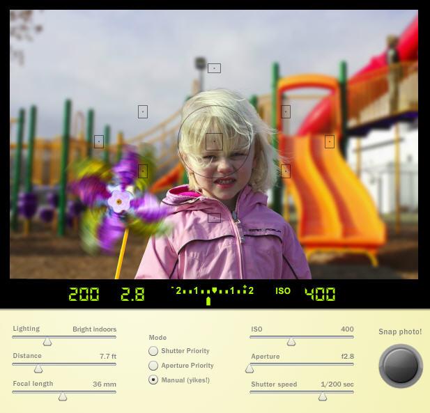 SLR Fotoğraf Makinesi Simülatorü