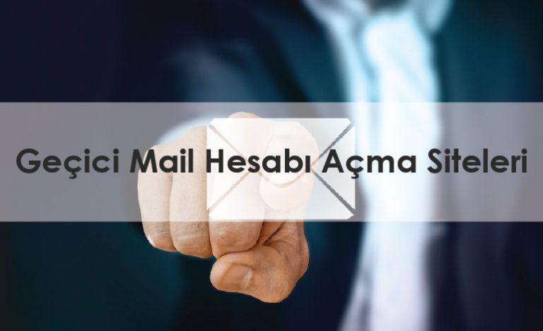 Geçici Mail Hesabı Açma Siteleri